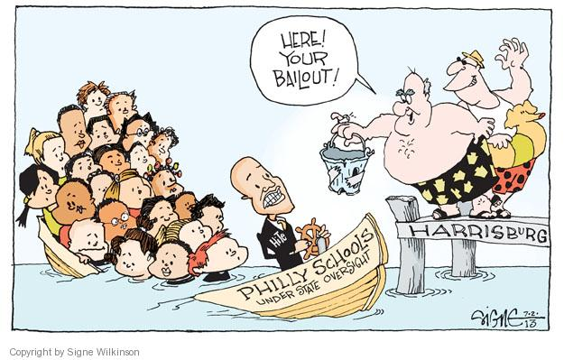 Signe Wilkinson  Signe Wilkinson's Editorial Cartoons 2013-07-02 bail