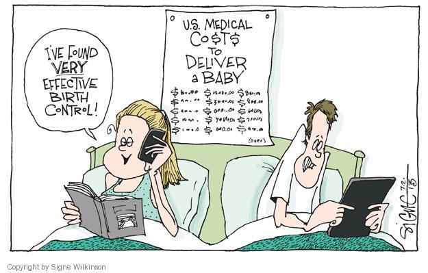 Cartoonist Signe Wilkinson  Signe Wilkinson's Editorial Cartoons 2013-07-03 cost