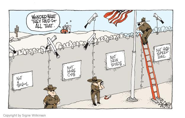 Cartoonist Signe Wilkinson  Signe Wilkinson's Editorial Cartoons 2013-07-10 police