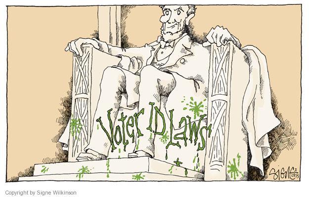 Cartoonist Signe Wilkinson  Signe Wilkinson's Editorial Cartoons 2013-07-28 voting rights