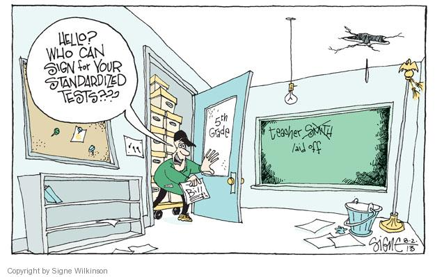 Cartoonist Signe Wilkinson  Signe Wilkinson's Editorial Cartoons 2013-08-03 expense