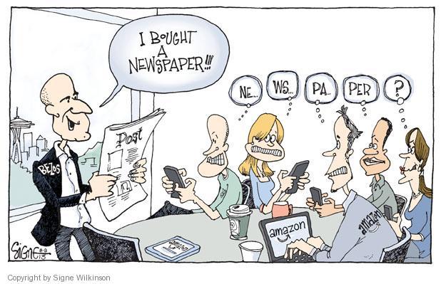 Signe Wilkinson  Signe Wilkinson's Editorial Cartoons 2013-08-08 Jeff Bezos