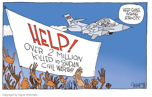 Cartoonist Signe Wilkinson  Signe Wilkinson's Editorial Cartoons 2013-09-03 strike