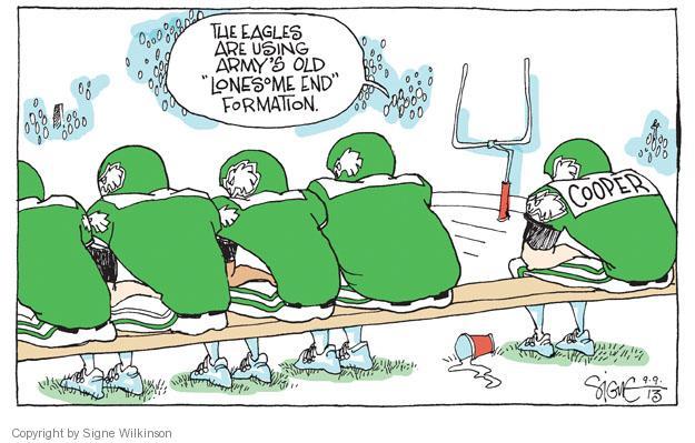 Cartoonist Signe Wilkinson  Signe Wilkinson's Editorial Cartoons 2013-09-09 team sport