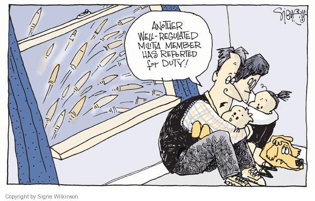 Cartoonist Signe Wilkinson  Signe Wilkinson's Editorial Cartoons 2013-09-23 arms