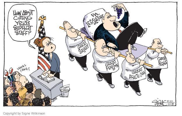 Cartoonist Signe Wilkinson  Signe Wilkinson's Editorial Cartoons 2013-09-24 editorial staff