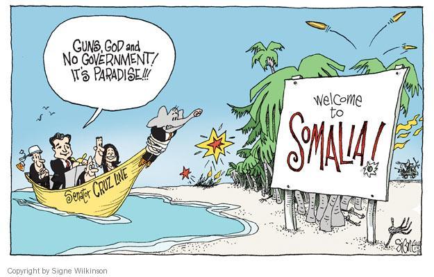 Cartoonist Signe Wilkinson  Signe Wilkinson's Editorial Cartoons 2013-10-13 society