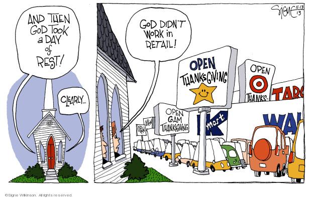 Signe Wilkinson  Signe Wilkinson's Editorial Cartoons 2013-11-13 Friday