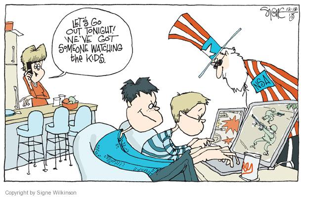 Cartoonist Signe Wilkinson  Signe Wilkinson's Editorial Cartoons 2013-12-18 data