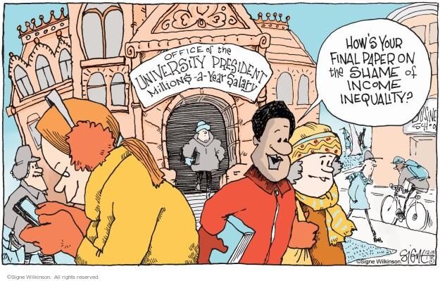 Cartoonist Signe Wilkinson  Signe Wilkinson's Editorial Cartoons 2013-12-19 university student