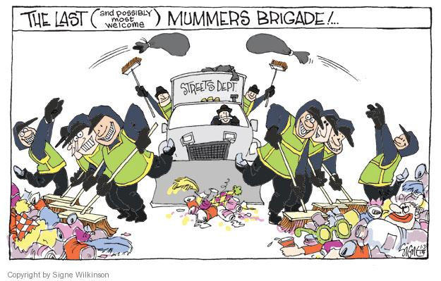 Cartoonist Signe Wilkinson  Signe Wilkinson's Editorial Cartoons 2014-01-03 New Year
