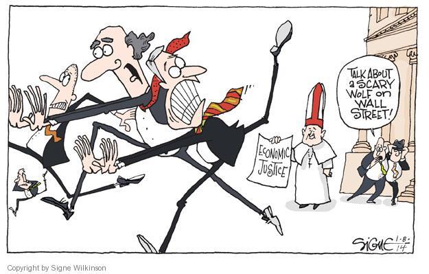 Cartoonist Signe Wilkinson  Signe Wilkinson's Editorial Cartoons 2014-01-08 denounce