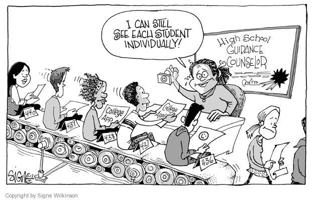 Cartoonist Signe Wilkinson  Signe Wilkinson's Editorial Cartoons 2014-01-13 university student