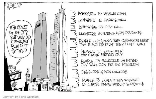 Cartoonist Signe Wilkinson  Signe Wilkinson's Editorial Cartoons 2014-01-17 political lobby
