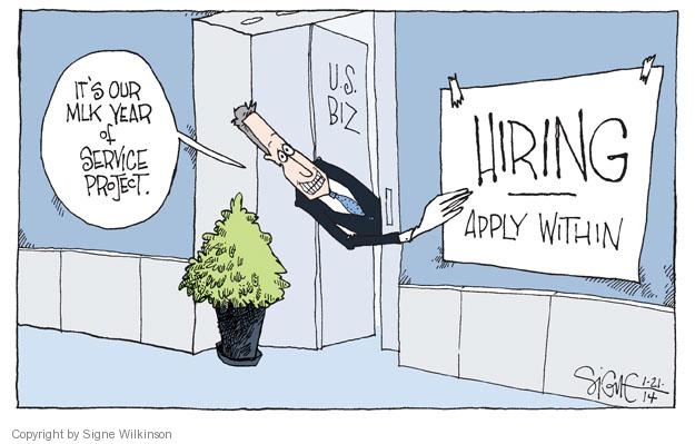 Signe Wilkinson  Signe Wilkinson's Editorial Cartoons 2014-01-21 business