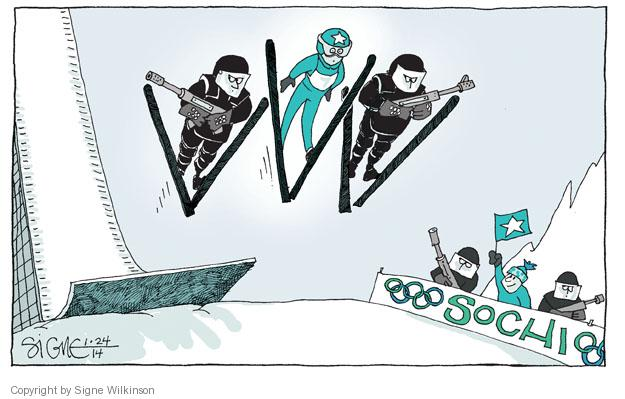 Signe Wilkinson  Signe Wilkinson's Editorial Cartoons 2014-01-24 Olympic athlete