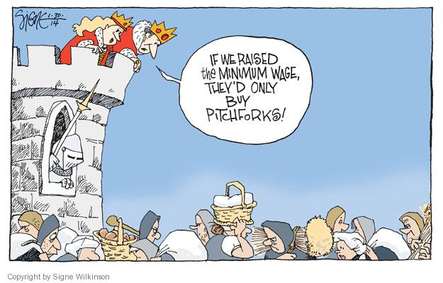 Signe Wilkinson  Signe Wilkinson's Editorial Cartoons 2014-01-30 minimum wage