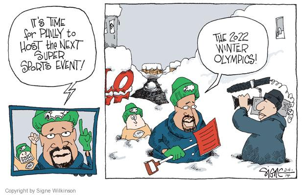 Signe Wilkinson  Signe Wilkinson's Editorial Cartoons 2014-02-04 ice