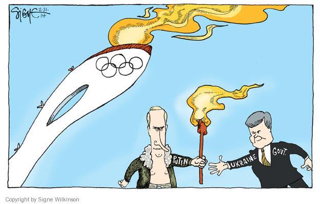 Signe Wilkinson  Signe Wilkinson's Editorial Cartoons 2014-02-21 2014 Olympics
