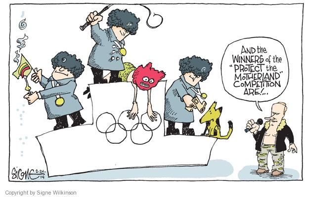 Cartoonist Signe Wilkinson  Signe Wilkinson's Editorial Cartoons 2014-02-24 2014 Olympics