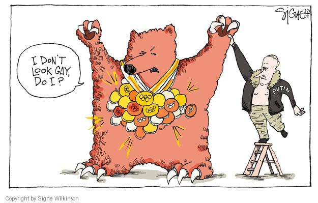 Signe Wilkinson  Signe Wilkinson's Editorial Cartoons 2014-02-25 winter Olympics
