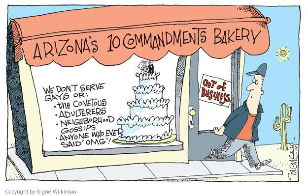 Cartoonist Signe Wilkinson  Signe Wilkinson's Editorial Cartoons 2014-02-27 gender discrimination