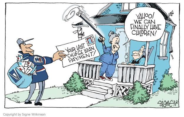 Cartoonist Signe Wilkinson  Signe Wilkinson's Editorial Cartoons 2014-03-02 finance