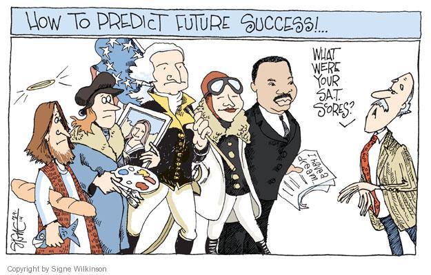 Cartoonist Signe Wilkinson  Signe Wilkinson's Editorial Cartoons 2014-03-09 university student