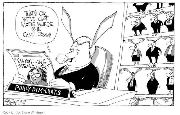 Cartoonist Signe Wilkinson  Signe Wilkinson's Editorial Cartoons 2014-03-14 editorial staff