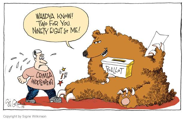 Signe Wilkinson  Signe Wilkinson's Editorial Cartoons 2014-03-19 ballot