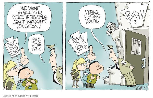 Cartoonist Signe Wilkinson  Signe Wilkinson's Editorial Cartoons 2014-03-20 improvement