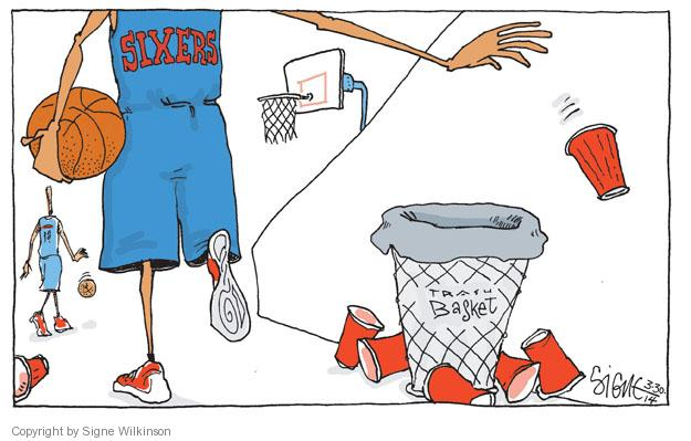 Sixers. Trash Basket.
