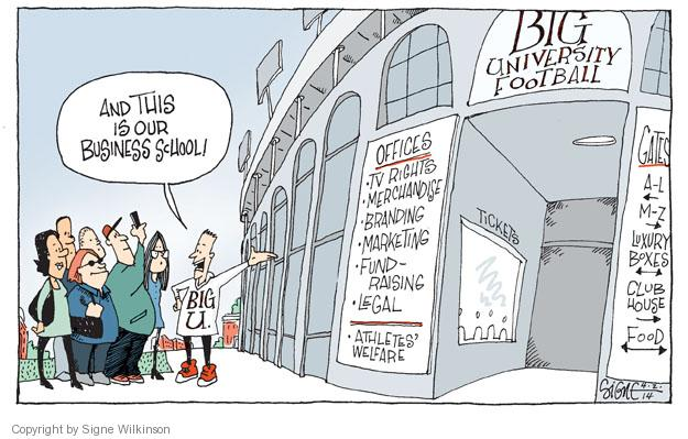 Cartoonist Signe Wilkinson  Signe Wilkinson's Editorial Cartoons 2014-04-02 athlete