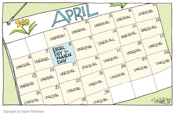 Signe Wilkinson  Signe Wilkinson's Editorial Cartoons 2014-04-11 employment compensation