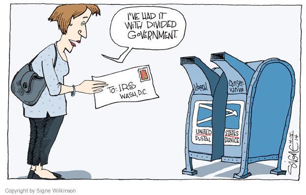 Signe Wilkinson  Signe Wilkinson's Editorial Cartoons 2014-04-15 liberal