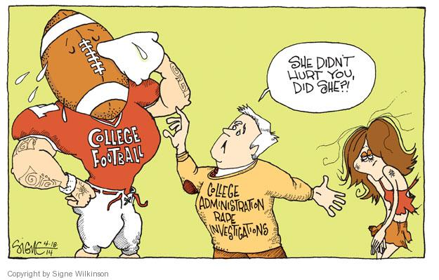 Cartoonist Signe Wilkinson  Signe Wilkinson's Editorial Cartoons 2014-04-18 athlete