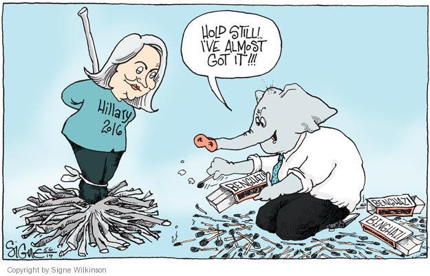Signe Wilkinson  Signe Wilkinson's Editorial Cartoons 2014-05-06 2016 Election Hillary Clinton