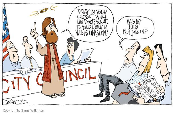 Cartoonist Signe Wilkinson  Signe Wilkinson's Editorial Cartoons 2014-05-08 Matthew