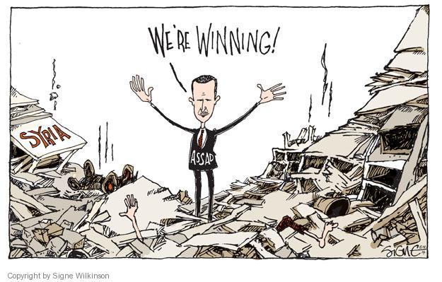 Cartoonist Signe Wilkinson  Signe Wilkinson's Editorial Cartoons 2014-05-14 rubble