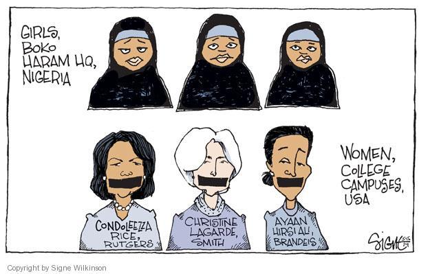 Cartoonist Signe Wilkinson  Signe Wilkinson's Editorial Cartoons 2014-05-15 university student