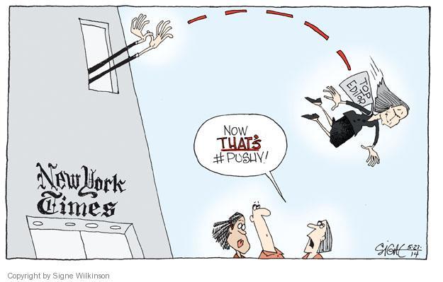 Cartoonist Signe Wilkinson  Signe Wilkinson's Editorial Cartoons 2014-05-22 news media