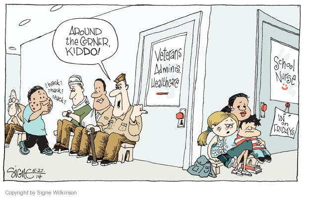Cartoonist Signe Wilkinson  Signe Wilkinson's Editorial Cartoons 2014-05-27 armed forces