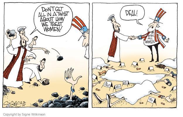Signe Wilkinson  Signe Wilkinson's Editorial Cartoons 2014-05-30 treatment