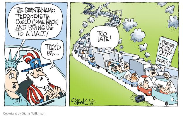 Cartoonist Signe Wilkinson  Signe Wilkinson's Editorial Cartoons 2014-06-05 highway