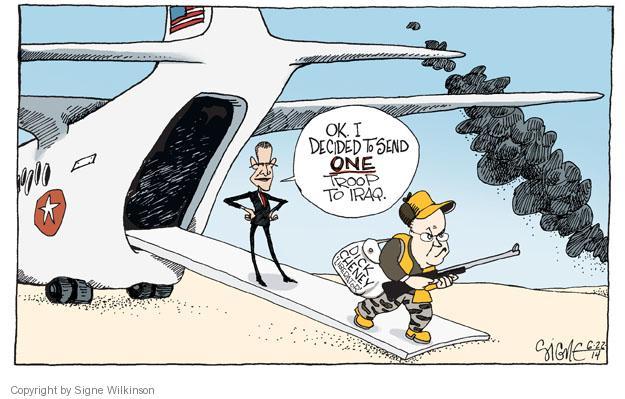 Cartoonist Signe Wilkinson  Signe Wilkinson's Editorial Cartoons 2014-06-23 Cheney Obama