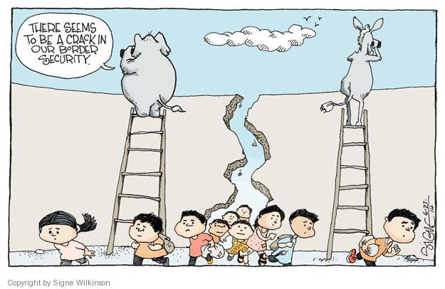 Signe Wilkinson  Signe Wilkinson's Editorial Cartoons 2014-06-27 immigration