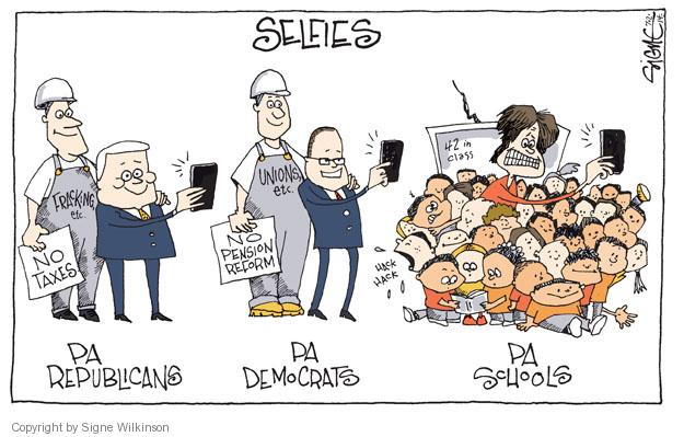 Cartoonist Signe Wilkinson  Signe Wilkinson's Editorial Cartoons 2014-07-02 gubernatorial