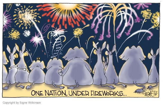 Signe Wilkinson  Signe Wilkinson's Editorial Cartoons 2014-07-04 independence