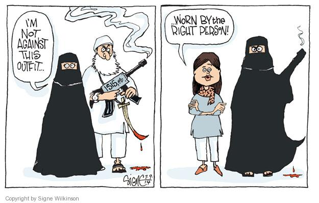 Cartoonist Signe Wilkinson  Signe Wilkinson's Editorial Cartoons 2014-07-09 Iraq