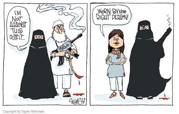Signe Wilkinson  Signe Wilkinson's Editorial Cartoons 2014-07-09 burka